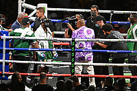 MIAMI GARDENS FL - JUNE 06: Floyd Mayweather enters the ring as Floyd Mayweather Vs Logan Paul during their contracted exhibition boxing match at Hard Rock Stadium in Miami Gardens on June 6, 2021 in Miami Gardens, Florida. <br /> CAP/MPI04<br /> ©MPI04/Capital Pictures