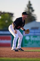 Batavia Muckdogs third baseman Nic Ready (51) during a NY-Penn League game against the West Virginia Black Bears on June 25, 2019 at Dwyer Stadium in Batavia, New York.  Batavia defeated West Virginia 7-3.  (Mike Janes/Four Seam Images)