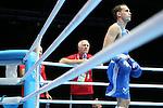 Glasgow 2014 Commonwealth Games<br /> Wales boxing coach Colin Jones.<br /> Sean McGoldrick, Wales (Blue) v Jackson Woods, Australia (Red)<br /> Men's Bantam (56kg)<br /> Coach Colin Jones<br /> <br /> 28.07.14<br /> ©Steve Pope-SPORTINGWALES