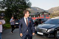 Austria, Kitzbuhel, Juli 15, 2015, Tennis, Davis Cup, Dutch team arriving at official  dinner, pictured: Jean-Julien Rojer<br /> Photo: Tennisimages/Henk Koster