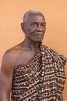 Nana Kwame Takyi I, king of Aburi/Agyimanti, former bodyguard to Ghana's first president, Kwame Nkrumah. Photograph by Peter E. Randall