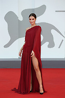 """VENICE, ITALY - SEPTEMBER 08: Alba-Amira Ramadani attends the red carpet of the movie """"Freaks Out"""" during the 78th Venice International Film Festival on September 08, 2021 in Venice, Italy. (Photo by Mark Cape/Insidefoto)"""