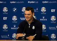 25.09.2014. Gleneagles, Auchterarder, Perthshire, Scotland.  The Ryder Cup.  Martin Kaymer (EUR) during his press interview.