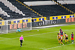 Sunderland's Grant Leadbitter scores a 34th minute penalty to make the score 1-2. Hull 2 Sunderland 2, League One 20th April 2021.