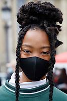 OCT 2020 Chanel street fashion arrivals at Paris show