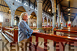 Sheila Finucane visiting Saint John's church on Monday which has reopened to parisioners after being closed during Covid-19 restrictions.