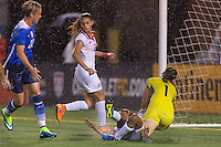 Chattanooga, TN - August 19, 2015: The USWNT defeated Costa Rica 7-2 during the second game of the USWNT Victory Tour at Finley Stadium.