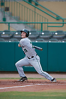 Dartmouth Big Green third baseman Steffen Torgersen (29) follows through on a swing during a game against the USF Bulls on March 17, 2019 at USF Baseball Stadium in Tampa, Florida.  USF defeated Dartmouth 4-1.  (Mike Janes/Four Seam Images)