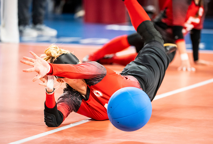 Meghan Mahon, Tokyo 2020 - Goalball.<br /> Canada takes on Russia in the preliminary round // Le Canada affronte la Russie au tour préliminaire. 25/08/2021.