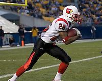 25 November 2006: Louisville Cardinals wide receiver JaJuan Spillman..The Louisville Cardinals defeated the Pitt Panthers 48-24 on November 25, 2006 at Heinz Field, Pittsburgh, Pennsylvania.
