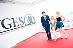 """The director of the film Jackson Stewart, american actress Barbara Crampton and Brea Grant pose to the media during the presentation of the film """"Beyond the Gate"""" at Festival de Cine Fantastico de Sitges in Barcelona. October 08, Spain. 2016. (ALTERPHOTOS/BorjaB.Hojas)"""