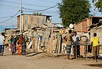 DJIBOUTI city, slum / DSCHIBUTI, Slum