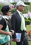 4 July 2010: Mr. & Mrs. George Strawbridge of Augustin Stable watch their horse INFORMED DECISION in the paddock before the 22nd running of the G3 Chicago Handicap at Arlington Park in Arlington Heights, Illinois.