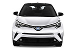 Car photography straight front view of a 2018 Toyota C-HR C-ULT 5 Door SUV