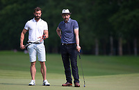 Jamie Dornan (Actor) & Dougray Scott (Actor) during the BMW PGA PRO-AM GOLF at Wentworth Drive, Virginia Water, England on 23 May 2018. Photo by Andy Rowland.