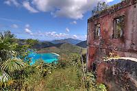 View of Maho Bay from <br /> America Hill Ruins.Virgin Islansd National Park.St. John.U.S. Virgin Islands