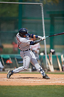 Detroit Tigers Alexander Fernandez Jr. (31) bats during a minor league Spring Training game against the Atlanta Braves on March 25, 2017 at the ESPN Wide World of Sports Complex in Orlando, Florida.  (Mike Janes/Four Seam Images)