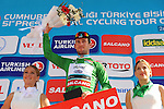 Mark Cavendish (GBR) Etixx-Quick Step retains the Sprint Jersey at the end of Stage 4 of the 2015 Presidential Tour of Turkey running 132km from Fethiye to Marmaris. 29th April 2015.<br /> Photo: Tour of Turkey/Mario Stiehl/www.newsfile.ie