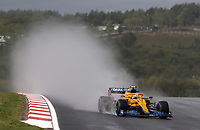 9th October 2021; Formula 1 Turkish Grand Prix 2021 Qualifying sessions at the Istanbul Park Circuit, Istanbul;    4 Lando Norris GBR, McLaren F1 Team rain plume