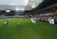 Sunday 09 November 2014 <br /> Pictured: Guard of Honour<br /> Re: Barclays Premier League, Swansea City FC v Arsenal City at the Liberty Stadium, Swansea, Great Britain.