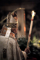 "Pope Benedict XVI ""feast of candles"" during  Holy Mass for the Solemnity of the presentation of Our Lord at St Peter's basilica at the Vatican.  on Febraury 2, 2013"