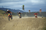 Cole Davies (left) leads 12-13 years 85cc race three. 2021 New Zealand Motocross Grand Prix at Old Gorge Road in Woodville , New Zealand on Saturday, 30  January 2021. Photo: Dave Lintott / lintottphoto.co.nz