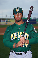 Lynchburg Hillcats first baseman Bobby Bradley (44) poses for a photo before a game against the Wilmington Blue Rocks on June 3, 2016 at Judy Johnson Field at Daniel S. Frawley Stadium in Wilmington, Delaware.  Lynchburg defeated Wilmington 16-11 in ten innings.  (Mike Janes/Four Seam Images)