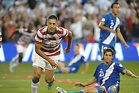 U.S Midfielder Clint Dempsey (8) turns after scoring the team's second goal..USMNT defeated Guatemala 3-1 in World Cup qualifying play at LIVESTRONG Sporting Park, Kansas City, KS.