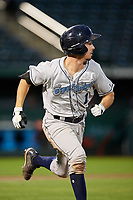 Corpus Christi Hooks catcher Garrett Stubbs (1) runs to first base during a game against the Springfield Cardinals on May 31, 2017 at Hammons Field in Springfield, Missouri.  Springfield defeated Corpus Christi 5-4.  (Mike Janes/Four Seam Images)