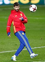 Spain's Gerard Pique during training session. March 23,2017.(ALTERPHOTOS/Acero)