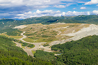 Coal mining reclamation in healy, foothills of the Alaska Range, Interior, Alaska