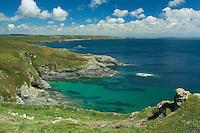 Looking towards the Lizard Peninsula from Piskies Cove near Perranuthnoe, Cornwall