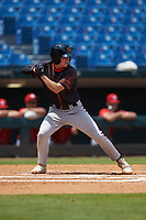 Dom Presto (29) of Palm Beach Gardens HS in Palm Beach Gardens, FL playing for the San Francisco Giants scout team during the East Coast Pro Showcase at the Hoover Met Complex on August 5, 2020 in Hoover, AL. (Brian Westerholt/Four Seam Images)