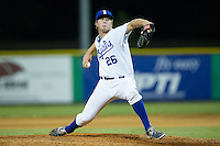 Burlington Royals relief pitcher Gabriel Cramer (26) in action against the Johnson City Cardinals at Burlington Athletic Park on August 22, 2015 in Burlington, North Carolina.  The Cardinals defeated the Royals 9-3. (Brian Westerholt/Four Seam Images)