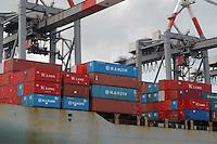 - containers of Chinese origin on a ship in La Spezia harbour....- containers di provenienza cinese a bordo di una nave nel porto di la Spezia