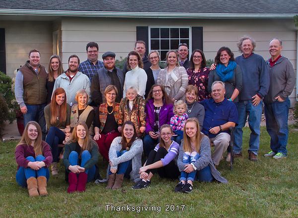 Thanksgiving 2017, Pella, Iowa, McConville
