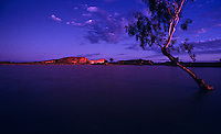 The Images from the Book Journey through Color and Time - At Dusk the flooded clay pan in front of Rainbow Valley in Central Australia creating a rare reflection. A rare occurrence in the arid parts of Central Australia and this happen only after a very heavy rain.