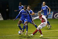 Emile Smith Rowe of Arsenal takes a shot at the Gillingham goal during Gillingham vs Arsenal Under-21, Papa John's Trophy Football at the MEMS Priestfield Stadium on 10th November 2020