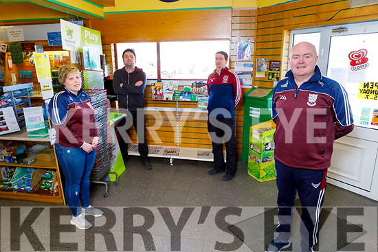 Causeway Community Action Group and the Causeway GAA coming together for a fundraiser for the staff of the UHK.<br /> Front left:  Noel O'Connor (Causeway GAA Chairman).<br /> Back l to r: Judy Diggins, John Martin Carroll and John Madden.