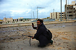 Sirte, LIBYA: Monday 11th October 2011:..A rebel fighter during fierce fighting in the the Libyan city of Sirte. Once rebels capture Sirte,  Gaddafi's hometown, the National Transitional Council (NTC) say they will declare national liberation, even if Col Gaddafi remains at large...Ayman Oghanna