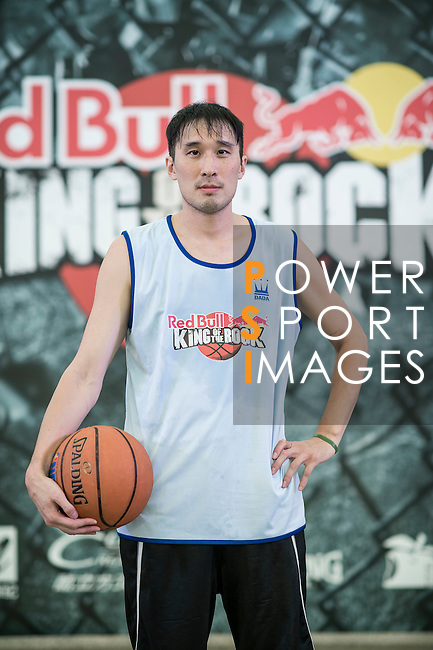 Wang poses for a portrait ahead the Red Bull King of the Rock Taiwan National Finals on July 18, 2015 at the Kaohsiung University basketball court in Kaohsiung, south Taiwan. Photo by Victor Fraile / Power Sport Images