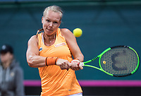 Bratislava, Slovenia, April 22, 2017,  FedCup: Slovakia-Netherlands, seccond rubber : Kiki Bertens (NED)<br /> Photo: Tennisimages/Henk Koster
