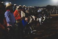 Activities, during the rodeo circuit in the new arena El Shejon with the participation of the brands Corona Buckles, Sonora Saddlery and Cas Cov Rodeo on July 17, 2021 in Carbo, Mexico. Cowboys sport, horse riding and Bull riding, a strong circuit in Chihuahua, followed by Sonora and Baja California Mex. and neighboring US states. Rodeo is a traditional American extreme sport influenced by the history of Spanish cowboys and Mexican charros. It consists of riding wild colts or wild cattle (such as steers and bulls) bareback and performing various exercises, such as throwing the lasso, rejonear, etc. without killing the animal. It is practiced in Mexico (not to be confused with jaripeo) almost throughout the country such as in the state of Chihuahua and San Luis Potosí, where rodeo is taken as a traditional sport, as well as in Australia and Brazil.<br /> Today the largest American rodeo show in the world is the Houston Livestock Show and Rodeo in the United States.<br /> (Photo: Luis Gutierrez / NortePhoto.com)<br /> <br /> Actividades, durante el circuito de rodeo en la nueva arena el Shejon con la participacion de la marcas Corona Buckles, Sonora Saddlery y Cas Cov Rodeo el 17 julio 2021 en Carbo, Mexico. deporte de Vaqueros, jineteo de caballos y Jineteo de Toros, un fuerte circuito en Chihuahua, seguido de Sonora y Baja California Mex. y los estados vecinos de EU. El rodeo es un deporte extremo estadounidense tradicional con influencias de la historia de los vaqueros españoles y de los charros méxicanos. Consiste en montar a pelo potros salvajes o reses vacunas bravas (como novillos y toros) y realizar diversos ejercicios, como arrojar el lazo, rejonear, etc. sin matar al animal. Se practica en Mexico (no confundirlo con el jaripeo) casi en todo el pais como en el estado de Chihuahua y San Luis Potosí, en donde se toma al rodeo como deporte tradicional, así también como en Australia y Brasil. <br /> Hoy en día la exposición del rodeo estadounidense más grande del