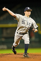 Starting pitcher Jordan Stephens #27 of the Rice Owls in action against the Tennessee Volunteers at Minute Maid Park on March 4, 2012 in Houston, Texas.  The Owls defeated the Volunteers 11-1.  Brian Westerholt / Four Seam Images