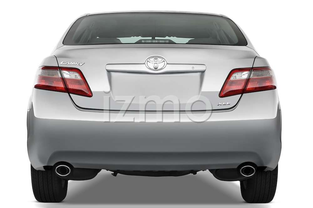 Straight rear view of a 2008 Toyota Camry XLE