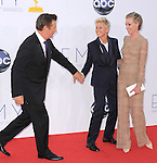 Alec Baldwin,Ellen Degeneres and Portia de Rossi at The 64th Anual Primetime Emmy Awards held at Nokia Theatre L.A. Live in Los Angeles, California on September  23,2012                                                                   Copyright 2012 Hollywood Press Agency