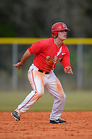 Ohio State Buckeyes outfielder Tim Wetzel #31 leads off second during a game against the South Dakota State Jackrabbits at North Charlotte Regional Park on February 23, 2013 in Port Charlotte, Florida.  Ohio State defeated South Dakota State 5-2.  (Mike Janes/Four Seam Images)