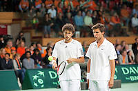 08-05-10, Tennis, Zoetermeer, Daviscup Nederland-Italie, Dubbles Robin Haase and Igor Sijsling  Simone Bolelli and Potito Starace