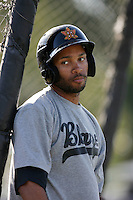 May 26, 2010: Jared Bolden of the Bakersfield Blaze during game against the Inland Empire 66'ers at Arrowhead Credit Union Park in San Bernardino,CA.  Photo by Larry Goren/Four Seam Images