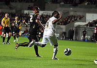Pictured: Jason Scotland of Swansea City in action<br /> Re: Coca Cola Championship, Swansea City Football Club v Queens Park Rangers at the Liberty Stadium, Swansea, south Wales 21st October 2008.